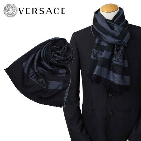 VERSACE マフラー ヴェルサーチ ベルサーチ メンズ ウール イタリア製 カジュアル ビジネス 0652 [12/22 再入荷]