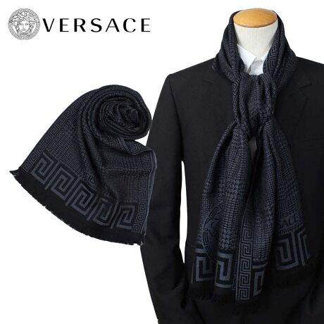VERSACE マフラー ヴェルサーチ ベルサーチ メンズ ウール イタリア製 カジュアル ビジネス 0665 [1712]