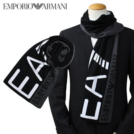 EMPORIO ARMANI マフラー メンズ エンポリオ アルマーニ EA7 イーエーセブン ウール イタリア製 ビジネス カジュアル 2755617A393 [1712]