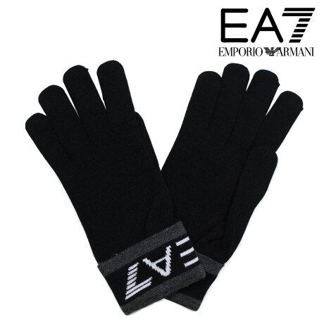 EMPORIO ARMANI 手袋 メンズ 防寒 エンポリオ アルマーニ EA7 イーエーセブン ブラック ビジネス カジュアル 2755617A393 [1712]