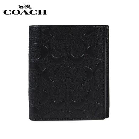 COACH コーチ 財布 二つ折り メンズ レザー F11970 BLK ブラック [予約商品 1/22頃入荷予定 再入荷] [191]