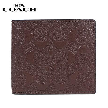 COACH WALLET コーチ 財布 二つ折り メンズ レディース レザー F75363 ブラウン [予約商品 1/25頃入荷予定 再入荷] [191]