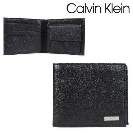 カルバンクライン Calvin Klein 財布 メンズ 二つ折り 小銭入れ付 YEN BILLFOLD WITH COIN CASE ブラック 79215
