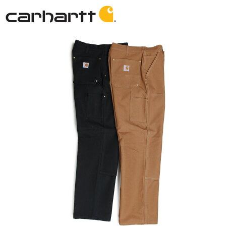 カーハート carhartt パンツ ワークパンツ ペインターパンツ メンズ FIRM DUCK DOUBLE-FRONT WORK DUNGAREE ブラック ブラウン B01 [1/9 新入荷]