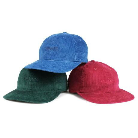 ONLY NY LODGE CORDUROY POLO HAT オンリーニューヨーク キャップ 帽子 メンズ レディース コーデュロイ ブルー グリーン ピンク [予約商品 1/8頃入荷予定 新入荷] [1901]