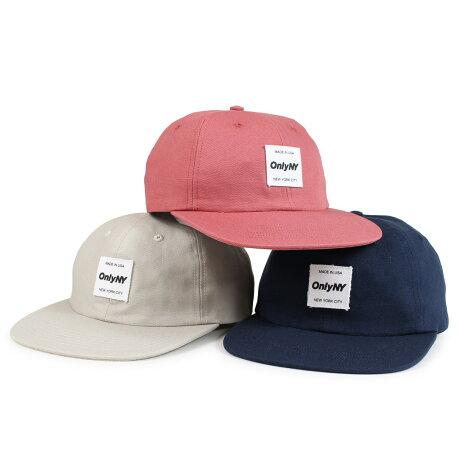 ONLY NY MESSENGER POLO HAT オンリーニューヨーク キャップ 帽子 メンズ レディース コットン ネイビー カーキ レッド [予約商品 1/8頃入荷予定 新入荷] [1901]