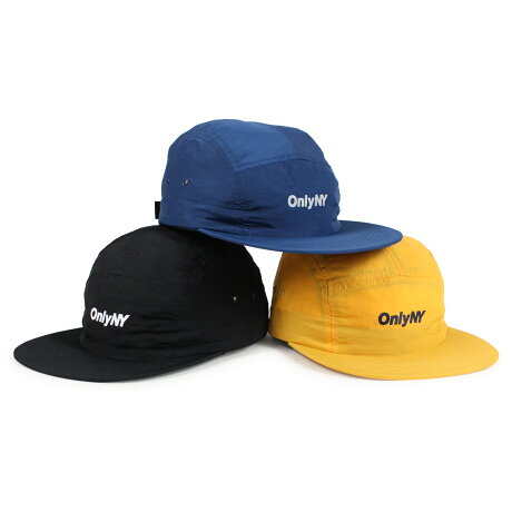ONLY NY LOGO 5-PANEL オンリーニューヨーク キャップ 帽子 メンズ レディース ナイロン ブラック ネイビー ゴールド [予約商品 1/8頃入荷予定 新入荷] [1901]
