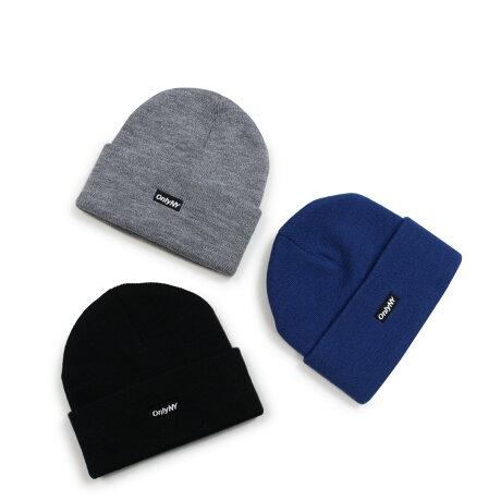 ONLY NY LOGO BEANIE オンリーニューヨーク ニット帽 ニットキャップ ビーニー メンズ レディース ブラック グレー ブルー [予約商品 1/8頃入荷予定 新入荷] [1901]