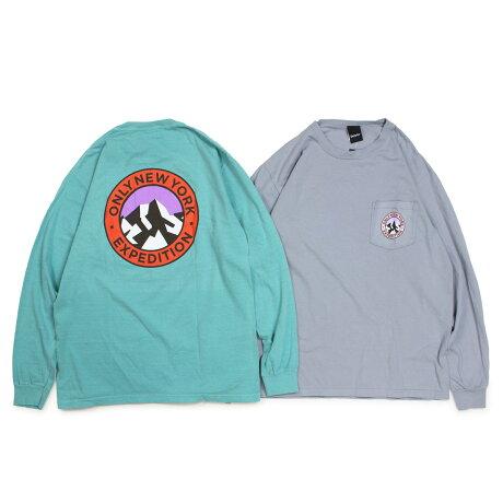 ONLY NY オンリーニューヨーク Tシャツ ロンT メンズ 長袖 コットン EXPEDITION L/S T-SHIRT グレー ブルー [1/7 新入荷]