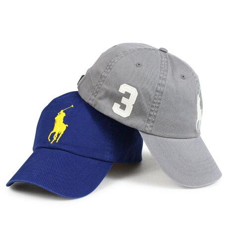 ポロ ラルフローレン POLO RALPH LAUREN キャップ 帽子 メンズ レディース コットン BIG PONY COTTON CAP グレー ブルー 710702648 [1/16 新入荷]