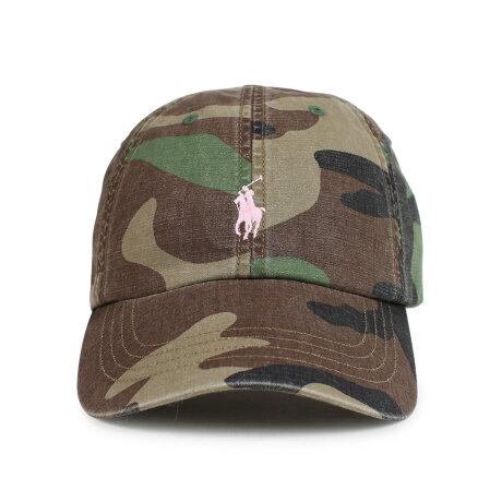 ポロ ラルフローレン POLO RALPH LAUREN キャップ 帽子 メンズ レディース コットン PINK PONY COTTON BASEBALL CAP カモ 710724241003 [1/15 新入荷]