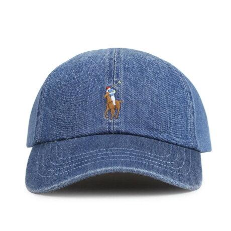 ポロ ラルフローレン POLO RALPH LAUREN キャップ 帽子 メンズ レディース コットン DENIM BASEBALL CAP デニム 710674341001 [1/15 新入荷]