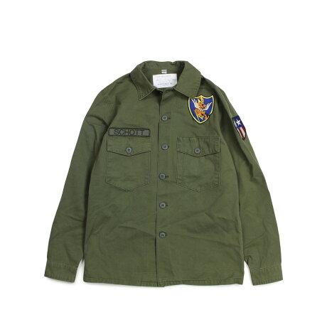 ショット Schott ジャケット シャツジャケット メンズ MEN FLYING TENTH FATIGUE SHIRT オリーブ 8701 [1/7 新入荷]