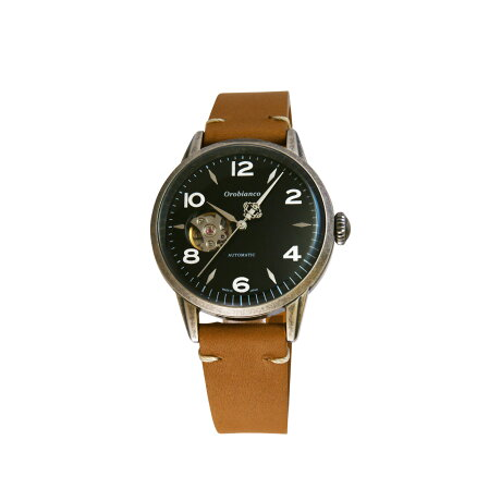Orobianco EVOLUZIONE オロビアンコ 時計 腕時計 メンズ 自動巻き アナログ ブラック ブラウン キャメル OR0076 [予約 9月上旬 追加入荷予定]