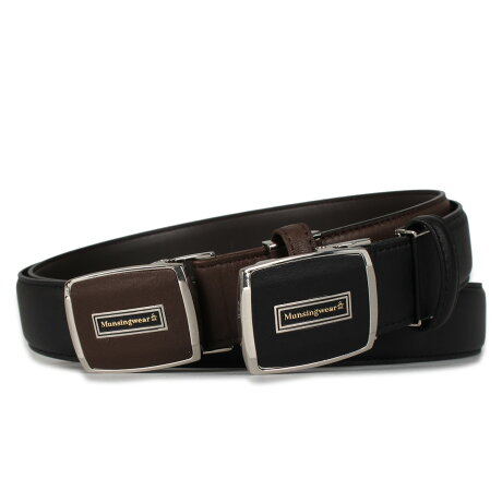 Munsingwear LEATHER BELT マンシングウェア ベルト レザーベルト メンズ 本革 ブラック ブラウン 黒 MUN-105017 [予約 9月下旬 追加入荷予定]