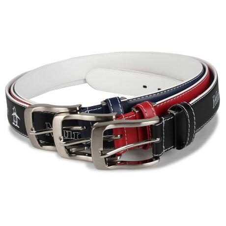 Munsingwear LEATHER BELT マンシングウェア ベルト レザーベルト メンズ ブラック ネイビー レッド 黒 MU-1050119 [予約 9月下旬 再入荷予定]