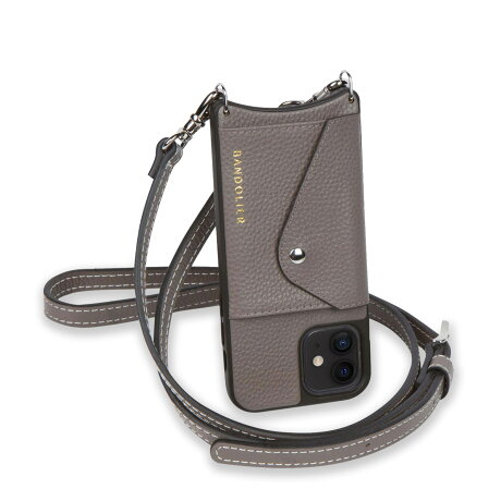 BANDOLIER CASEY SIDE SLOT バンドリヤー iPhone12 mini ケース スマホ 携帯 ショルダー アイフォン ケイシー サイドスロット メンズ レディース グレー 14CAS