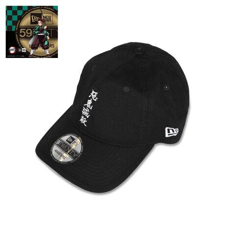 NEW ERA 920 KIMETSU MID AKMS ニューエラ キャップ 帽子 メンズ レディース 鬼滅の刃 惡鬼滅殺 コラボ ストラップバック ブラック 黒 12864503