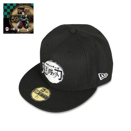 NEW ERA 5950 KIMETSU LOGO SJ ニューエラ キャップ 帽子 メンズ レディース 鬼滅の刃 ロゴ コラボ ブラック 黒 12864513