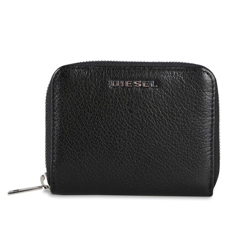 DIESEL CRASSU WALLET ディーゼル 二つ折り財布 メンズ ラウンドファスナー ブラック 黒 X07321P3043