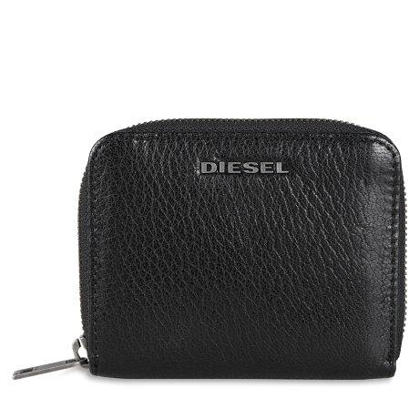 DIESEL CRASSU WALLET ディーゼル 二つ折り財布 メンズ ラウンドファスナー デニム ブラック 黒 X07321P4229