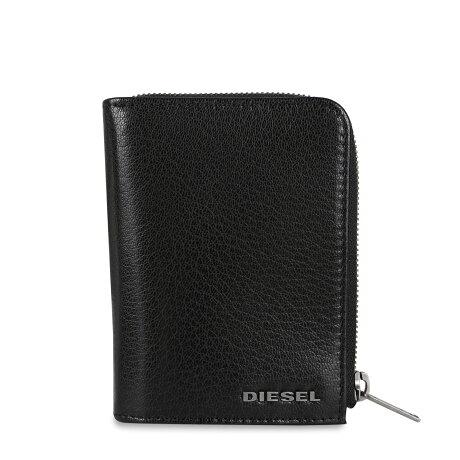 DIESEL L-12 ZIP WALLET ディーゼル 二つ折り財布 メンズ L字ファスナー デニム ブラック 黒 X07323P4229