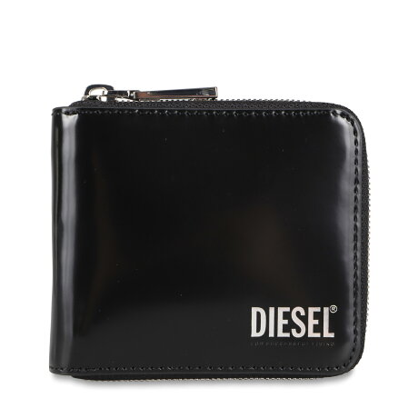 DIESEL HIRESH XS ZIPPI WALLET ディーゼル 二つ折り財布 メンズ ラウンドファスナー ブラック 黒 X08191PS679