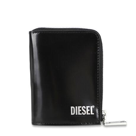 DIESEL L-12 ZIP WALLET ディーゼル 二つ折り財布 メンズ L字ファスナー ブラック 黒 X08192PS679