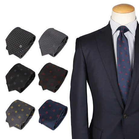 GIVENCHY TIE ジバンシィ ネクタイ メンズ シルク ブランド 結婚式 ブラック グレー ネイビー 黒 210902-02