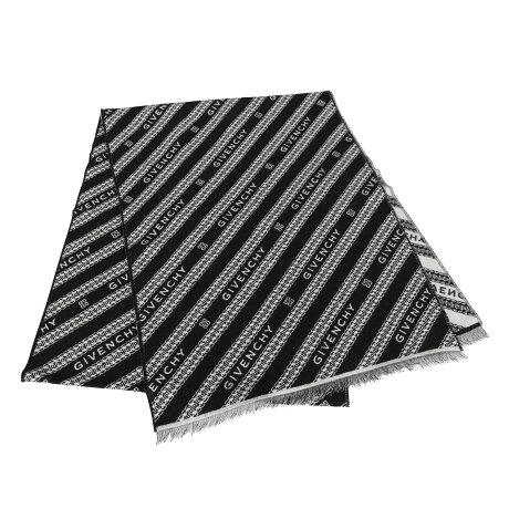 GIVENCHY ジバンシィ マフラー メンズ レディース ブラック 黒 GV3518 J4172 [予約 9月中旬 新入荷予定]
