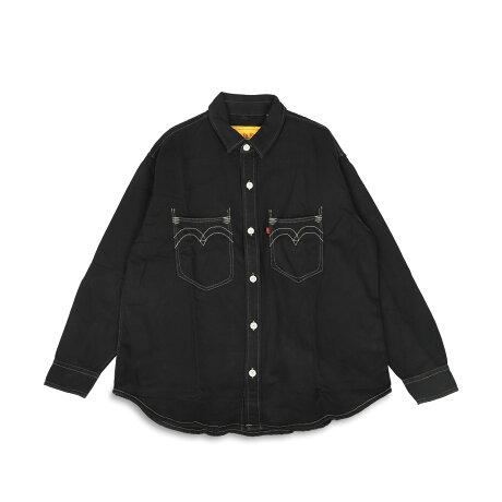 LEVI'S RED LS DENIM OVERSHIRT リーバイス レッド デニムシャツ 長袖 オーバーシャツ メンズ ブラック 黒 A0993-0000