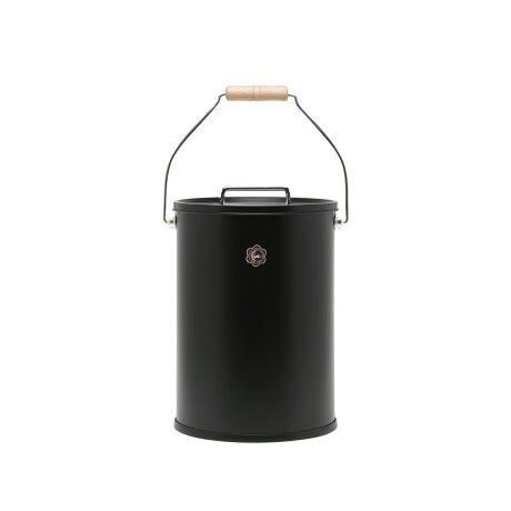 ツキウサギジルシ 月兎印 ゴミ箱 収納ボックス ふた付き L 日本製 テーパーバケット ぶんぶく BUNBKU ブラック ホワイト グレー 黒 白 [予約 9月下旬 新入荷予定]