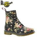 ドクターマーチン Dr.Martens 1460 WOMENS 8ホール ブーツ [ ブラック ] R11821016 PRINT キャンバス レディース メンズ 8EYE BOOTS