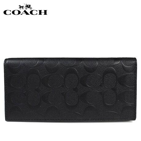 COACH メンズ 長財布 コーチ 財布 F75365 ブラック [予約商品 1/22頃入荷予定 再入荷] [191]