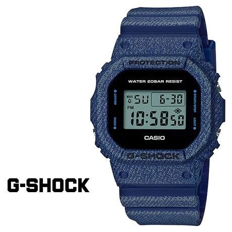 CASIO G-SHOCK カシオ 腕時計 DW-5600DE-2JF ジーショック Gショック G-ショック デニム ブルー メンズ レディース [177]