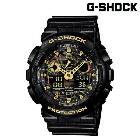 CASIO G-SHOCK カシオ 腕時計 GA-100CF-1A9JF CAMOUFLAGE DIAL SERIES Gショック GSHOCK ブラック カモ 迷彩 メンズ レディース [181]