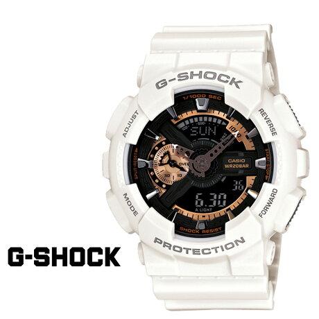 CASIO G-SHOCK カシオ 腕時計 GA-110RG-7AJF ROSE GOLD SERIES Gショック GSHOCK ホワイト ローズゴールド メンズ レディース [181]