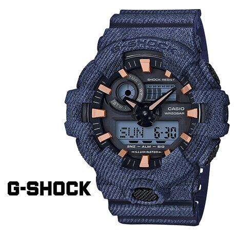 CASIO G-SHOCK カシオ 腕時計 GA-700DE-2AJF ジーショック Gショック G-ショック デニム ネイビー メンズ レディース [177]