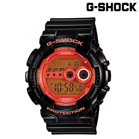 CASIO G-SHOCK カシオ 腕時計 GD-100HC-1JF HYPER COLORS Gショック G-ショック ブラック メンズ レディース [6/23 再入荷][186]
