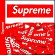 Supreme シュプリーム ボックス ロゴ ステッカー 光沢タイプ レッド BOX LOGO シール STICKER メンズ [7/11 追加入荷][177]