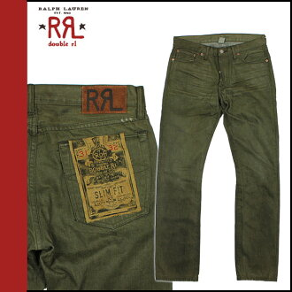 Men's doubles Aurel RRL DOUBLE RL Ralph Lauren denim jeans jeans slim