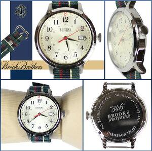 送料無料ブルックスブラザーズBROOKSBROTHERS腕時計メンズ3HANDMODEL40mmウォッチクロノグラフコレクション346時計グリーン×レッド[12/19新入荷][正規]★★