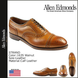 Allen Edmonds Allen Edmonds strand wingtip shoes STRAND 1635 calfleather E wise men
