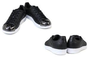 アディダススーパースターレディーススニーカーadidasoriginalsSUPERSTARMETALTOEWBY2882BY2883靴ホワイトブラックオリジナルス