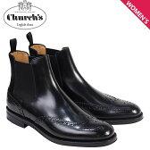 Churchs 靴 レディース チャーチ ブーツ サイドゴア ショートブーツ ウイングチップ Ketsby WG Polish Binder Calf 8706 DT0001 ブラック [6/21 新入荷][176]