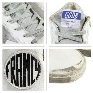 ゴールデングーススニーカーメンズレディースGoldenGooseフランシーFRANCYMADEINITALYGCOU591G3靴ホワイトシルバー