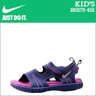Nike 耐克孩子新蕾 4 PS 涼鞋新蕾 4 初中學齡前兒童學齡前 185175 451 藍色