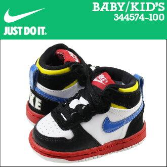 耐吉NIKE運動鞋嬰兒小孩BIG NIKE HIGH LE TD 344574-100鞋多色