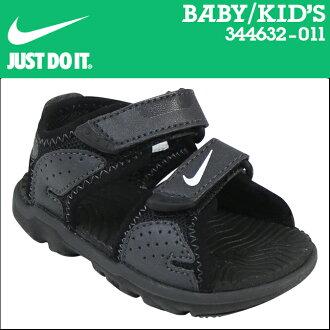 NIKE耐吉涼鞋嬰兒小孩SANTIAM 5 TD 344632-011黑色[9000雙]