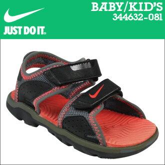[9000雙耐吉NIKE涼鞋嬰兒小孩SANTIAM 5 TD 344632-081黑色灰色的]